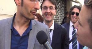 Alle prese con una intervista dinanzi Montecitorio con Matteo Dall'Osso e Paolo Parentela