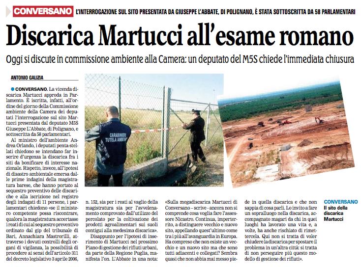 La Gazzetta del Mezzogiorno - 13.09.2013