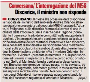 La Gazzetta del Mezzogiorno - 14.09.2013