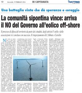 Il Mattino di Foggia - 19.02.2014
