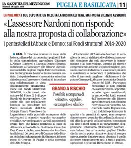 La Gazzetta del Mezzogiorno - 29.07.2014