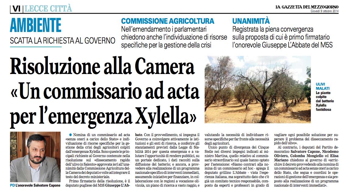 La Gazzetta del Mezzogiorno - 09.10.2014
