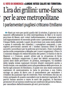 La Gazzetta del Mezzogiorno - 10.10.2014