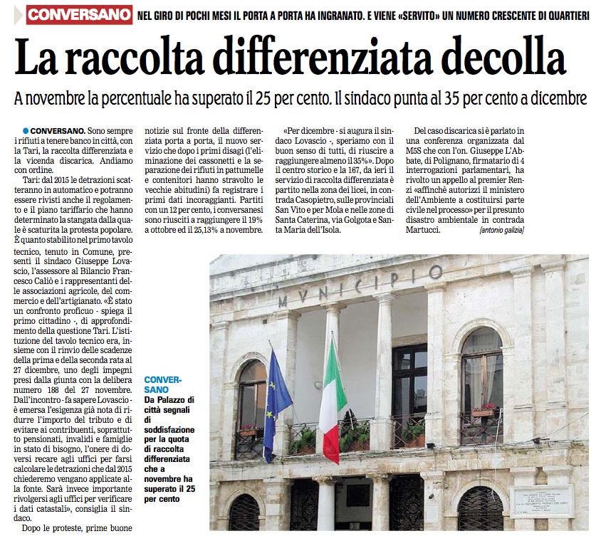 La Gazzetta del Mezzogiorno - 11.12.2014