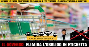 Oltre 10.000 cittadini scrivono a Renzi per far approvare la legge M5S per conservare in etichetta lo stabilimento di produzione e confezionamento