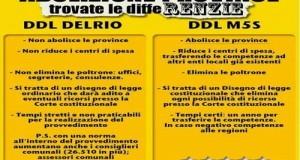 Critiche del M5S alla riforma Delrio: non elimina le province, non redistribuisce i poteri e non chiarisce chi s'accolla i debiti. La città metropolitana?