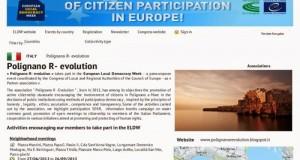 """Grazie alle attività svolte in occasione della """"Settimana Europea della Democrazia Locale 2013, Polignano a Mare (Bari) approda al Consiglio d'Europa"""