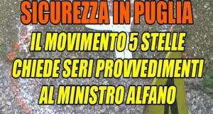 Chiesto un immediato intervento al ministro dell'Interno Alfano alla luce dei recenti atti criminosi che stanno interessando la Puglia e in particolare Bari