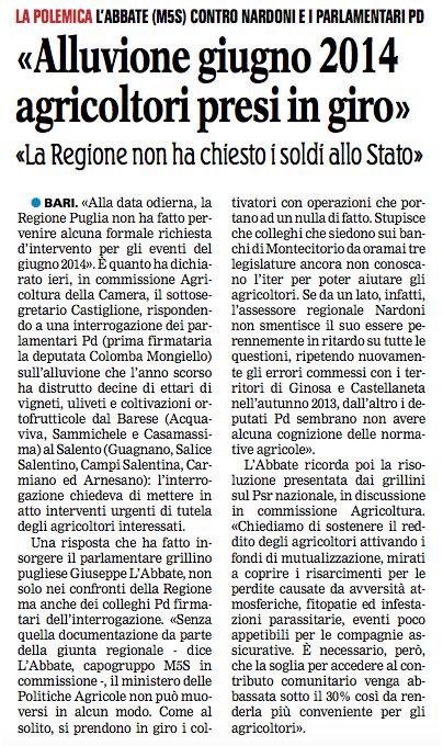 La Gazzetta del Mezzogiorno - 04.03.2015