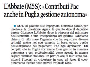 La Gazzetta del Mezzogiorno - 12.04.2015