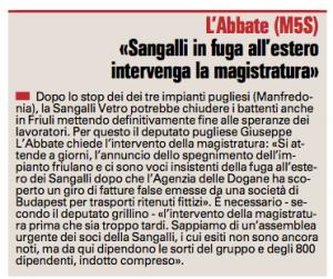 La Gazzetta del Mezzogiorno - 22.04.2015