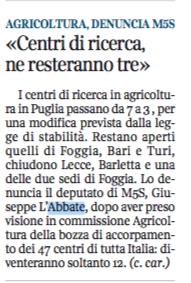 Il Corriere del Mezzogiorno - 19.05.2015