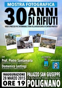 Mostra sulla Discarica Martucci a Polignano - 30 anni di rifiuti - marzo 2015