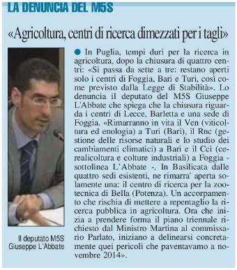 Il Nuovo Quotidiano di Puglia - 19.05.2015