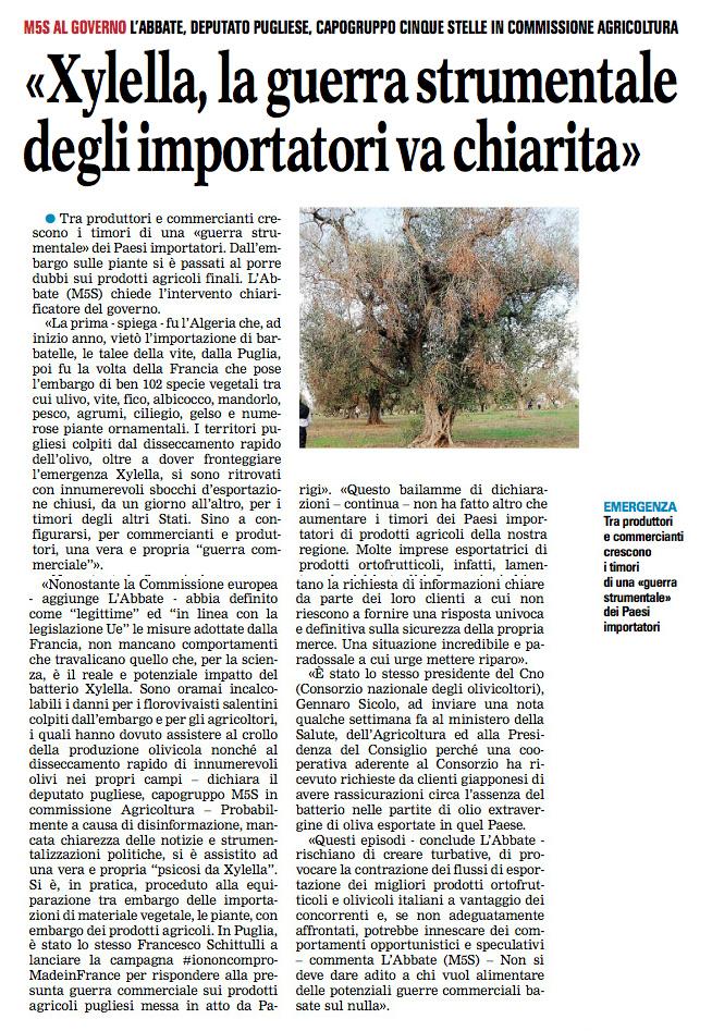 La Gazzetta del Mezzogiorno 08.06.2015