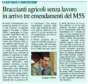Il Nuovo Quotidiano di Puglia - 25.06.2015