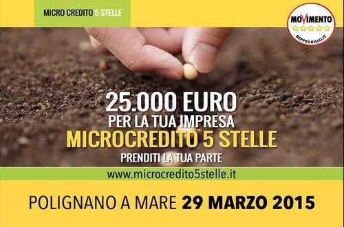 Grande successo per l'iniziativa dei 5 Stelle che hanno illustrato le modalità per gli imprenditori per accedere al fondo Microcredito
