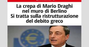 Come volevasi dimostrare, ecco le prime aperture della BCE per una eventuale ristrutturazione debito della Grecia proprio come chiedono gli USA