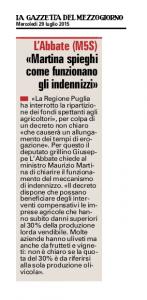 La Gazzetta del Mezzogiorno - 29.07.2015