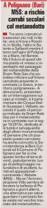 La Gazzetta del Mezzogiorno - 19.10.2015
