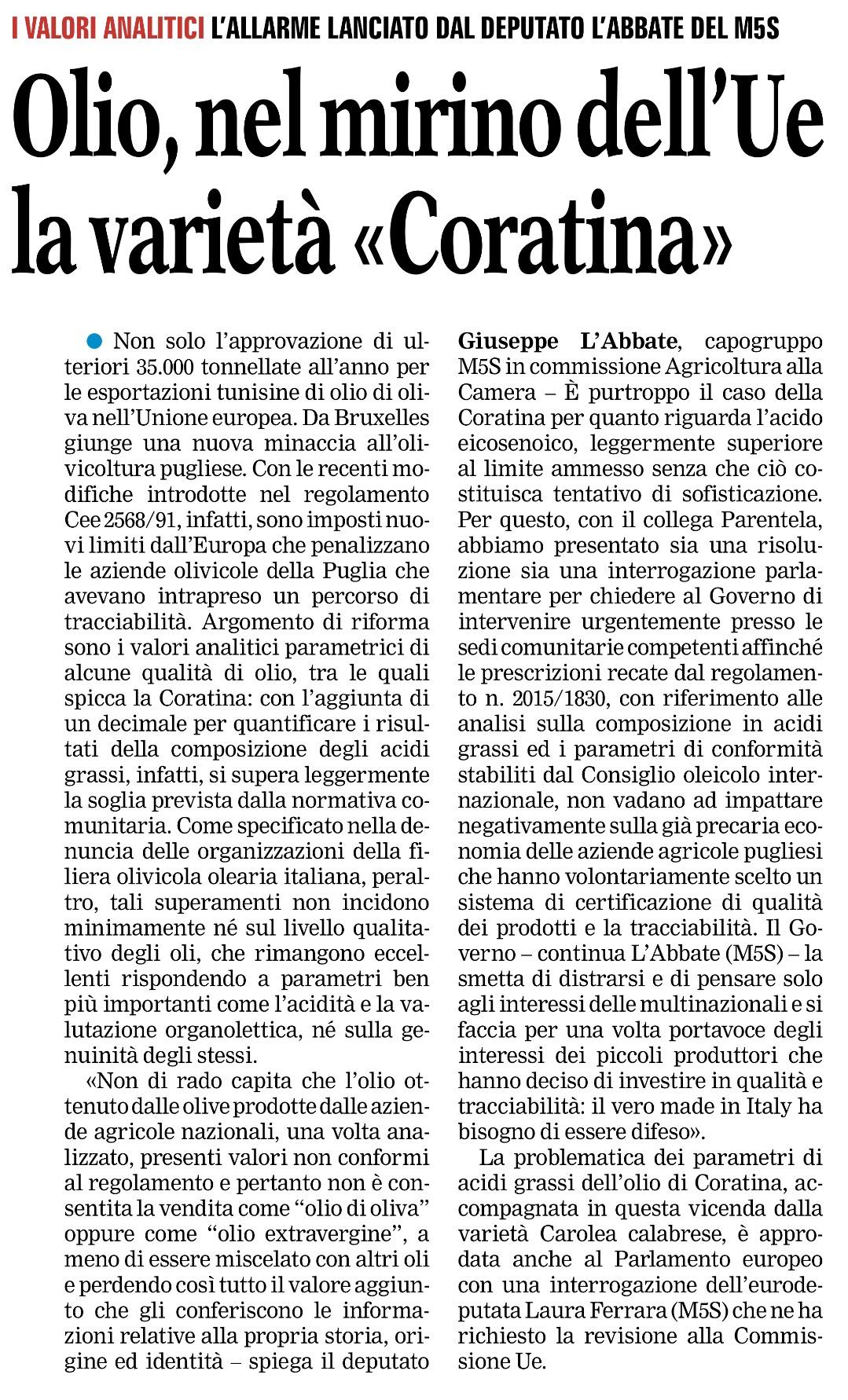 La Gazzetta del Mezzogiorno - 28.01.2016