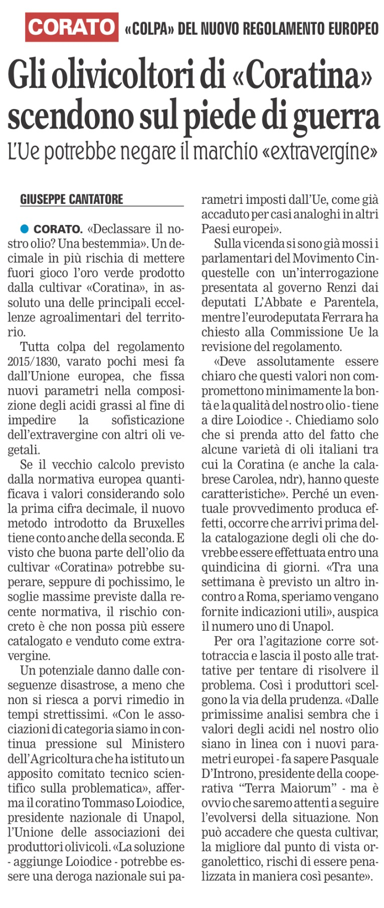 La Gazzetta del Mezzogiorno - 02.05.2016