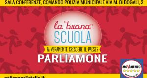 """Venerdì 22 gennaio, a Polignano (BA), convegno organizzato dagli Attivisti M5S sulla riforma cosiddetta """" Buona Scuola """" del Governo Renzi"""
