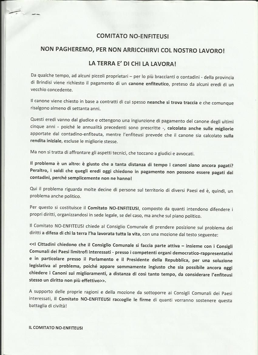 Allegato 5 -manifesto comitato NO ENFITEUSI