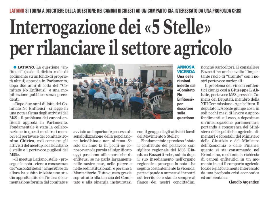 La Gazzetta del Mezzogiorno - 26.02.2016