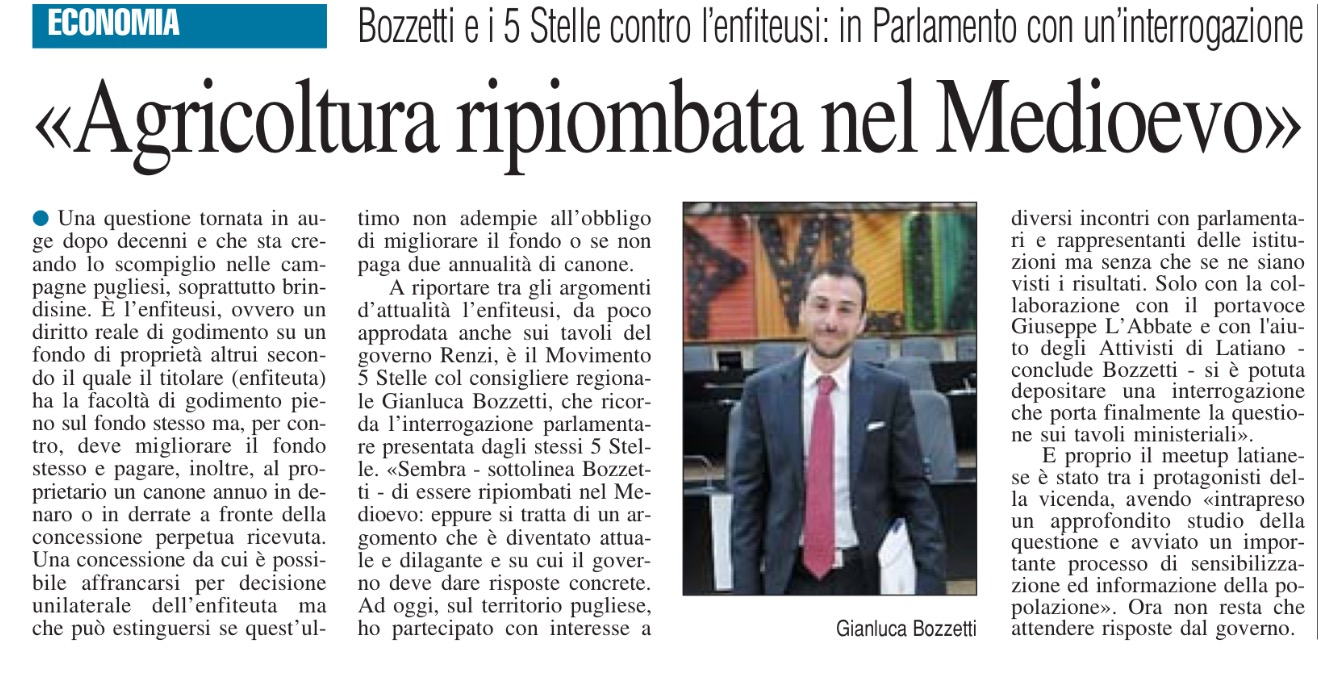 Il Nuovo Quotidiano di Puglia - 23.02.2016