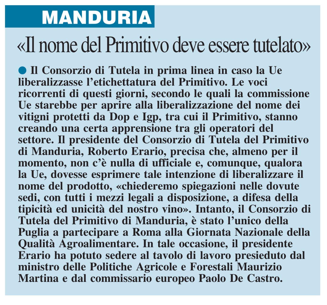 Il Nuovo Quotidiano di Puglia - 19.02.2016