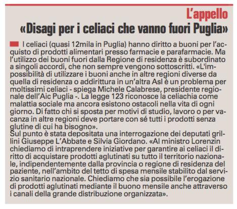 La Gazzetta del Mezzogiorno - 09.03.2016