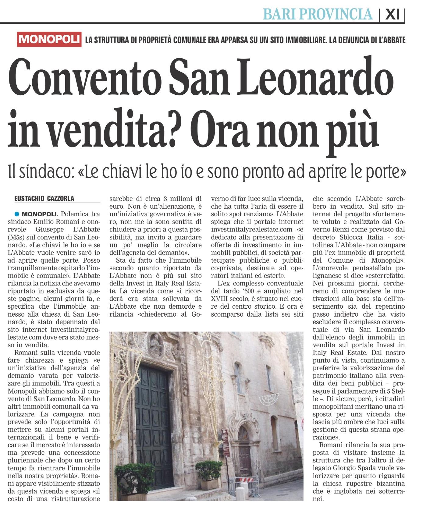 La Gazzetta del Mezzogiorno - 05.04.2016