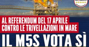 Il 15 aprile, in piazza a Polignano, comizio organizzato dagli Attivisti M5S di Polignano R-Evolution in vista del referendum sulle trivellazioni