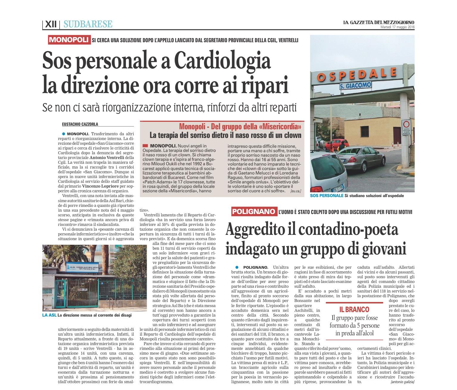 La Gazzetta del Mezzogiorno - 17.05.2016