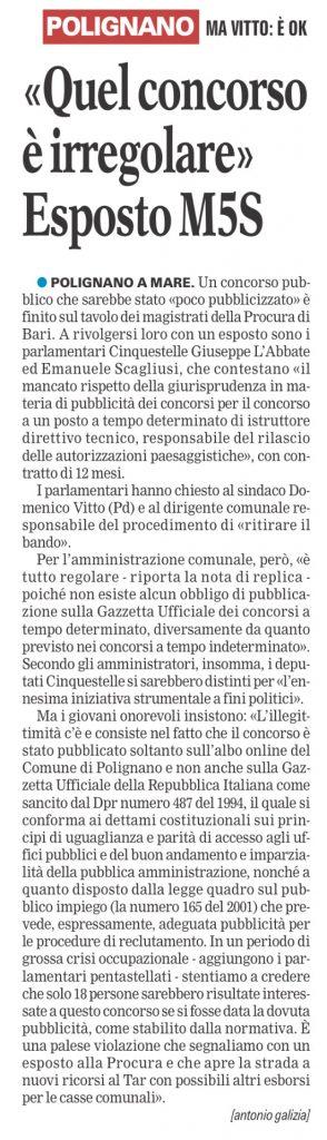 La Gazzetta del Mezzogiorno - 11.05.2016