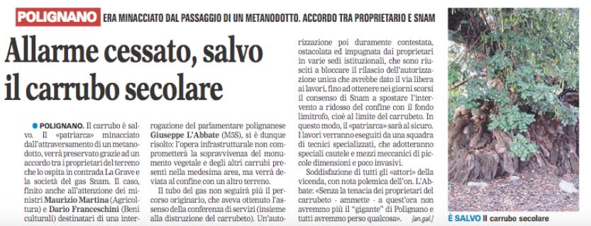 La Gazzetta del Mezzogiorno - 28.05.2016