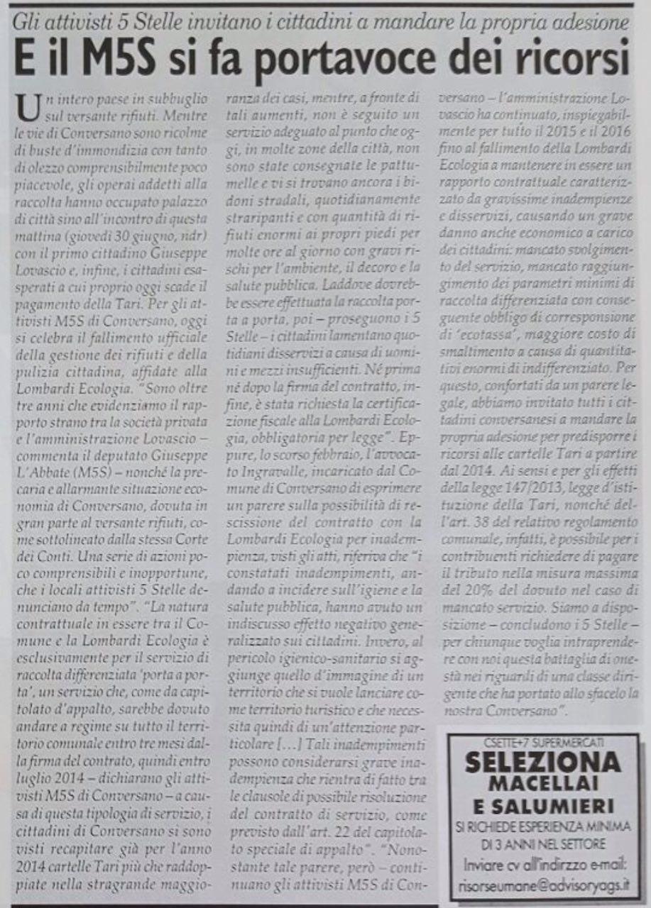Settimanale FAX Edizione Conversano - 02.07.2016