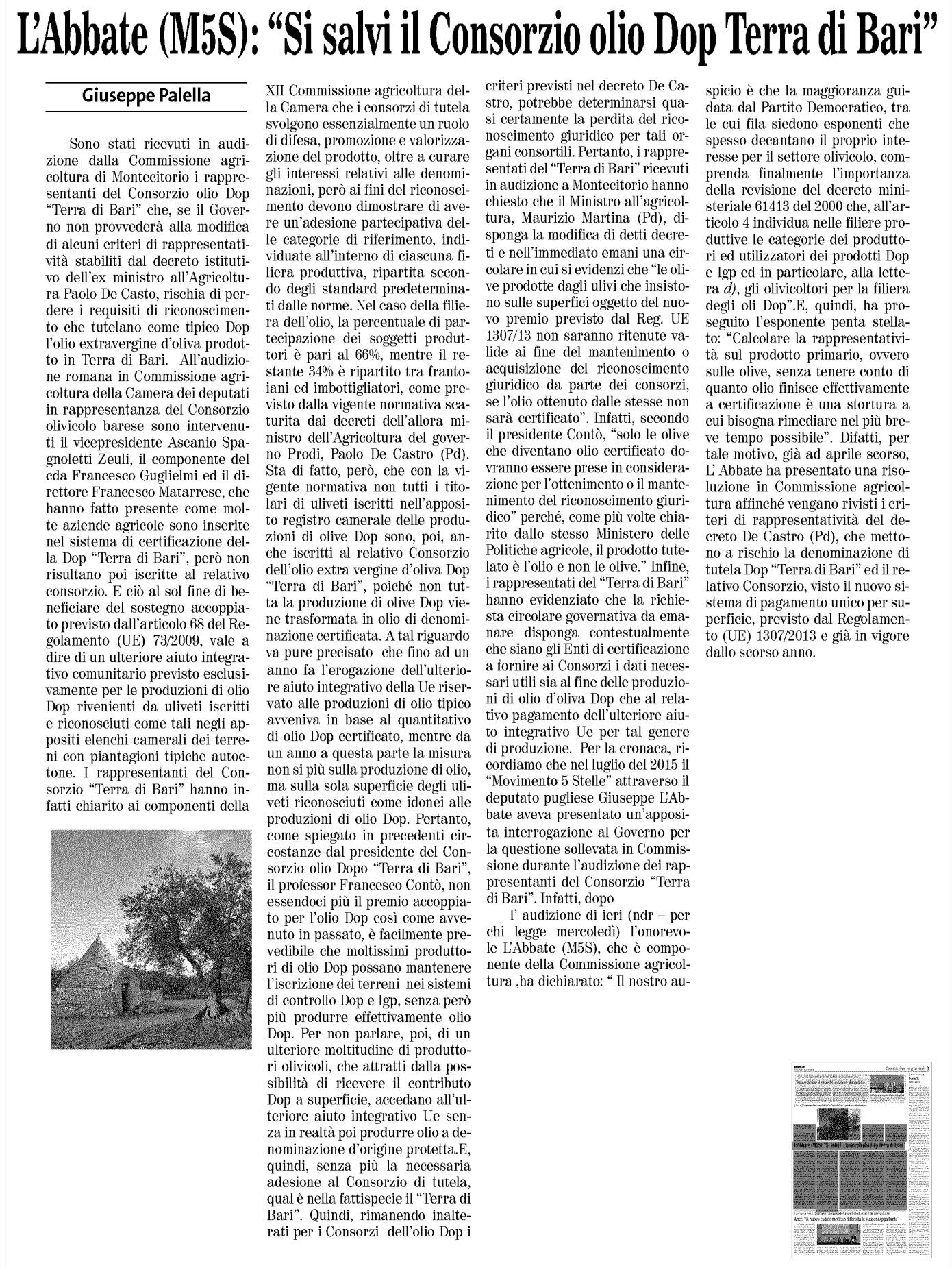 Il Quotidiano di Bari - 08.06.2017