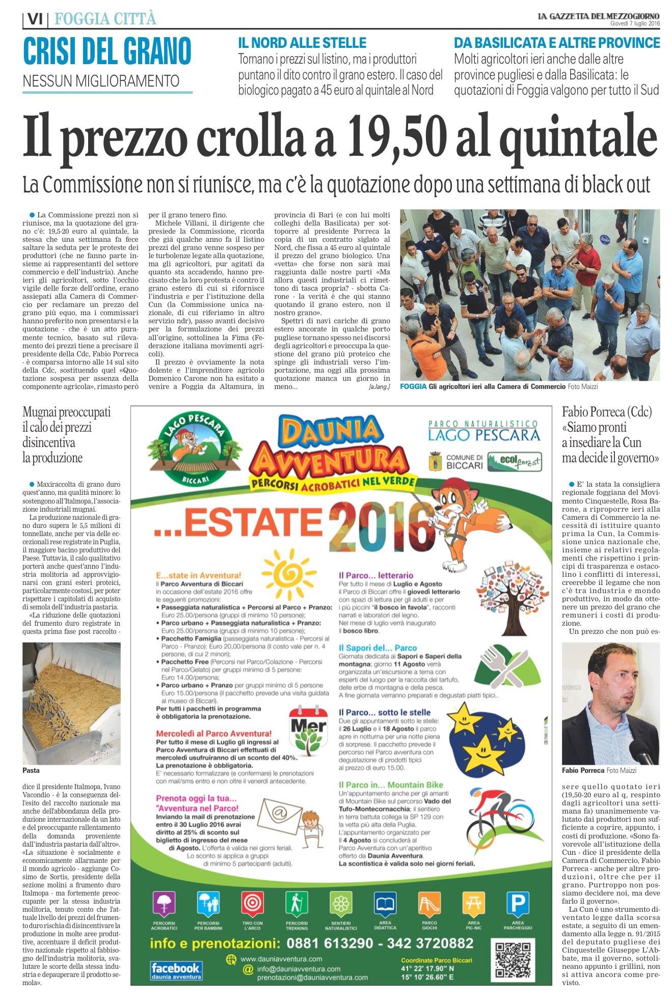 La Gazzetta del Mezzogiorno - 06.07.2016