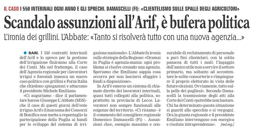 La Gazzetta del Mezzogiorno - 06.08.2016