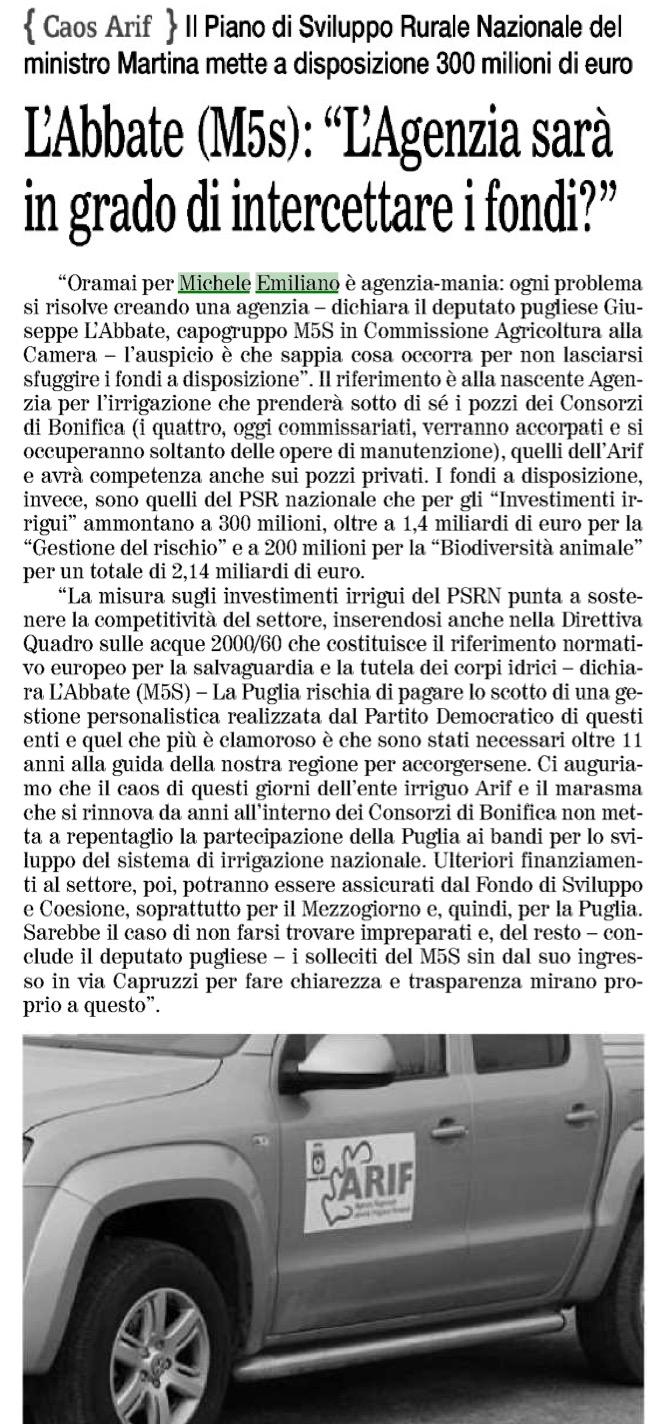 Quotidiano di Bari - 09.08.2016