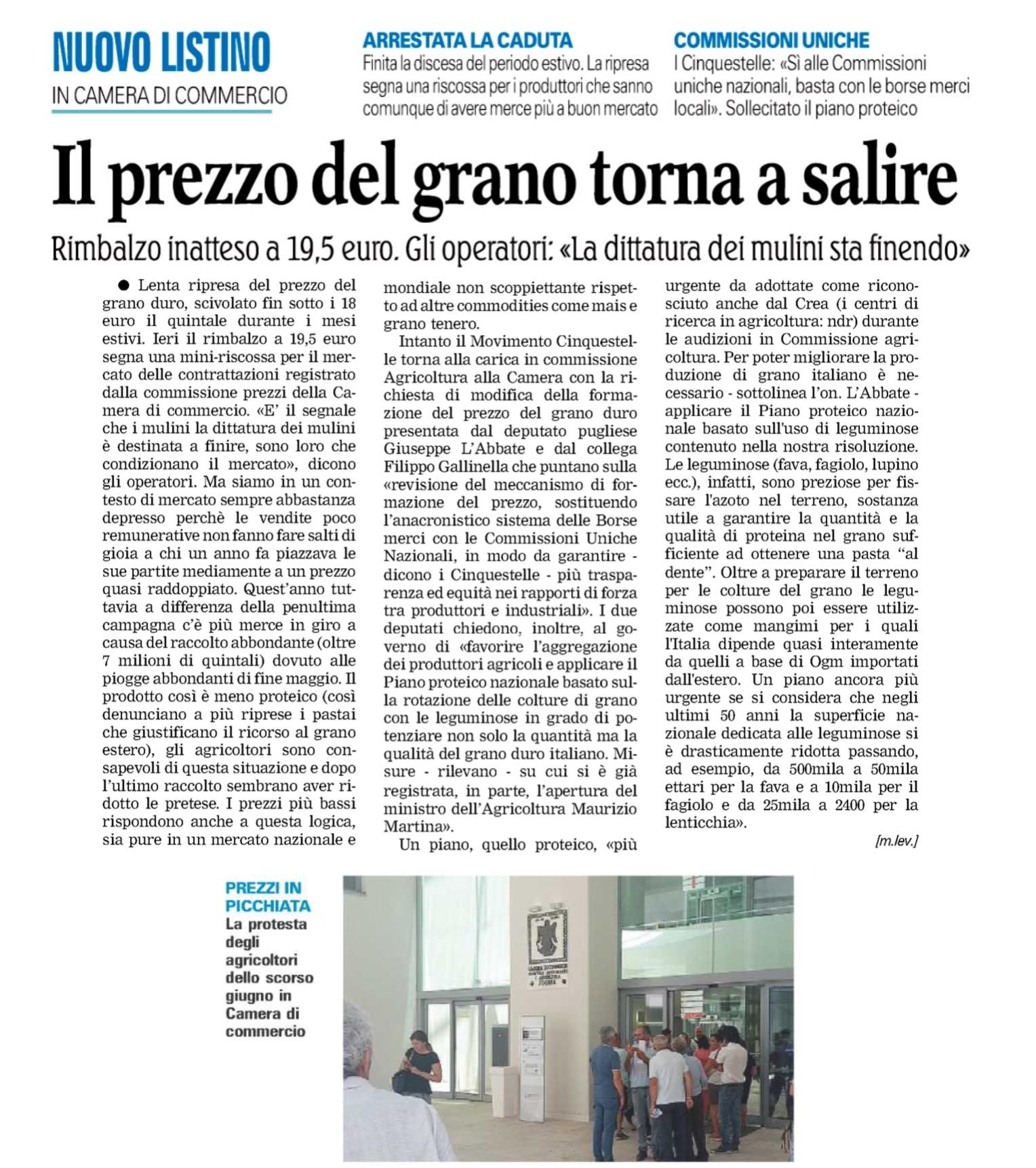 La Gazzetta del Mezzogiorno - 22.09.2016