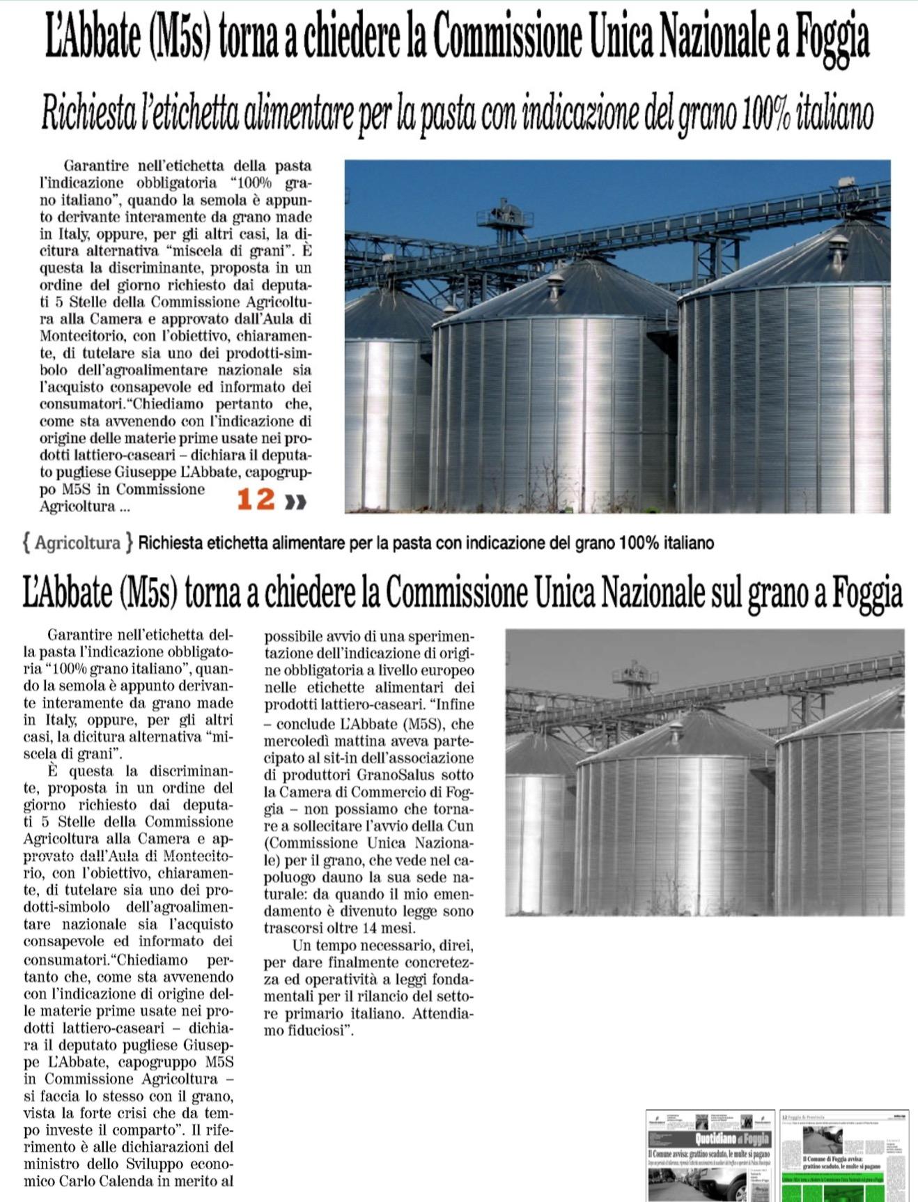 Il Quotidiano di Foggia - 05.11.2016
