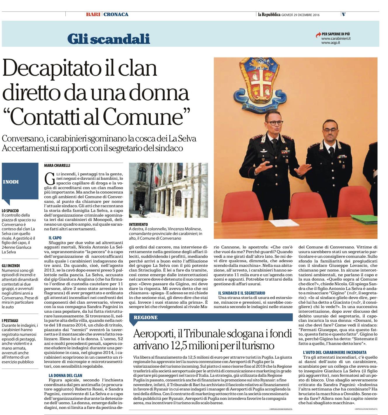 La Repubblica Bari - 29.12.2016