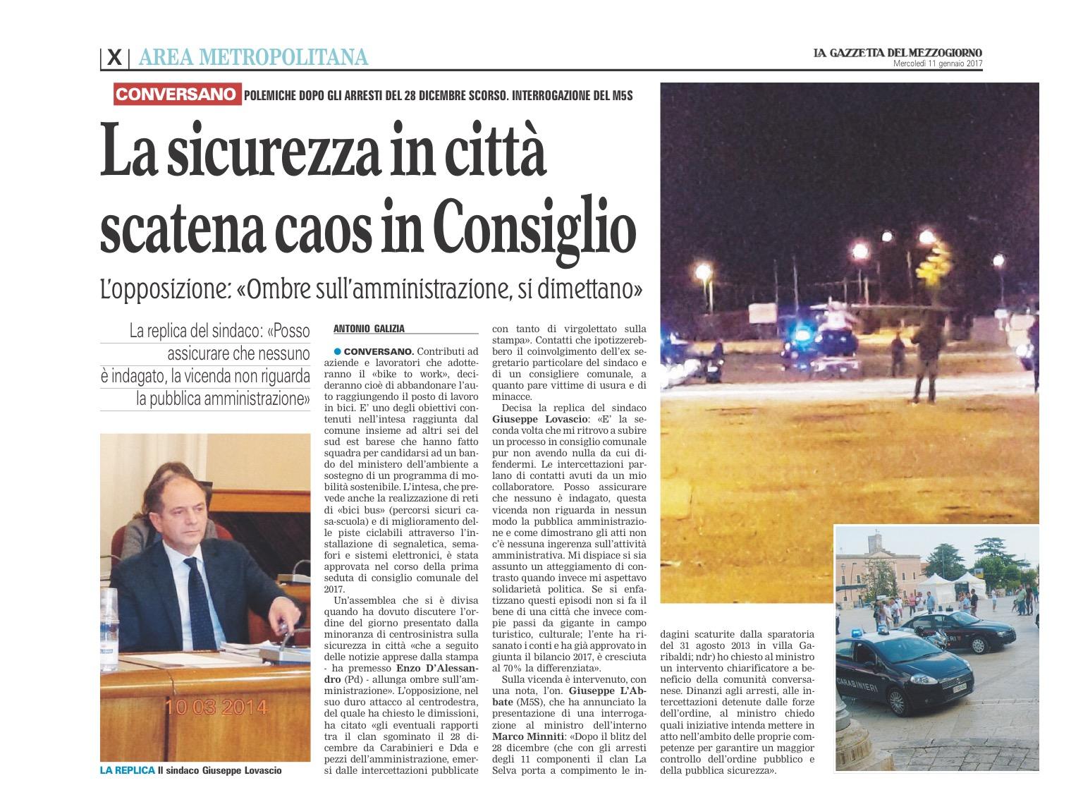 La Gazzetta del Mezzogiorno - 11.01.2017