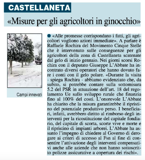 Il Nuovo Quotidiano di Puglia - 21.01.2017