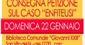 Ben 700 firme per avere risposta alla mia interrogazione parlamentare sul caso Enfiteusi in provincia di Brindisi e non solo