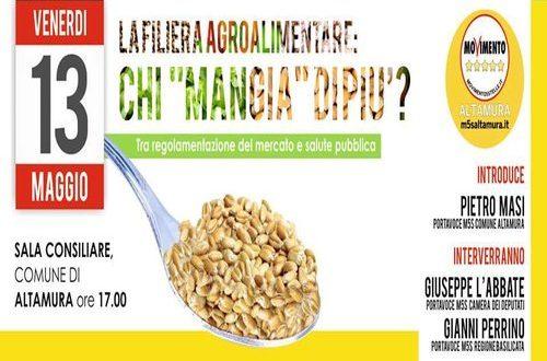 Evento sulla filiera agroalimentare ad Altamura