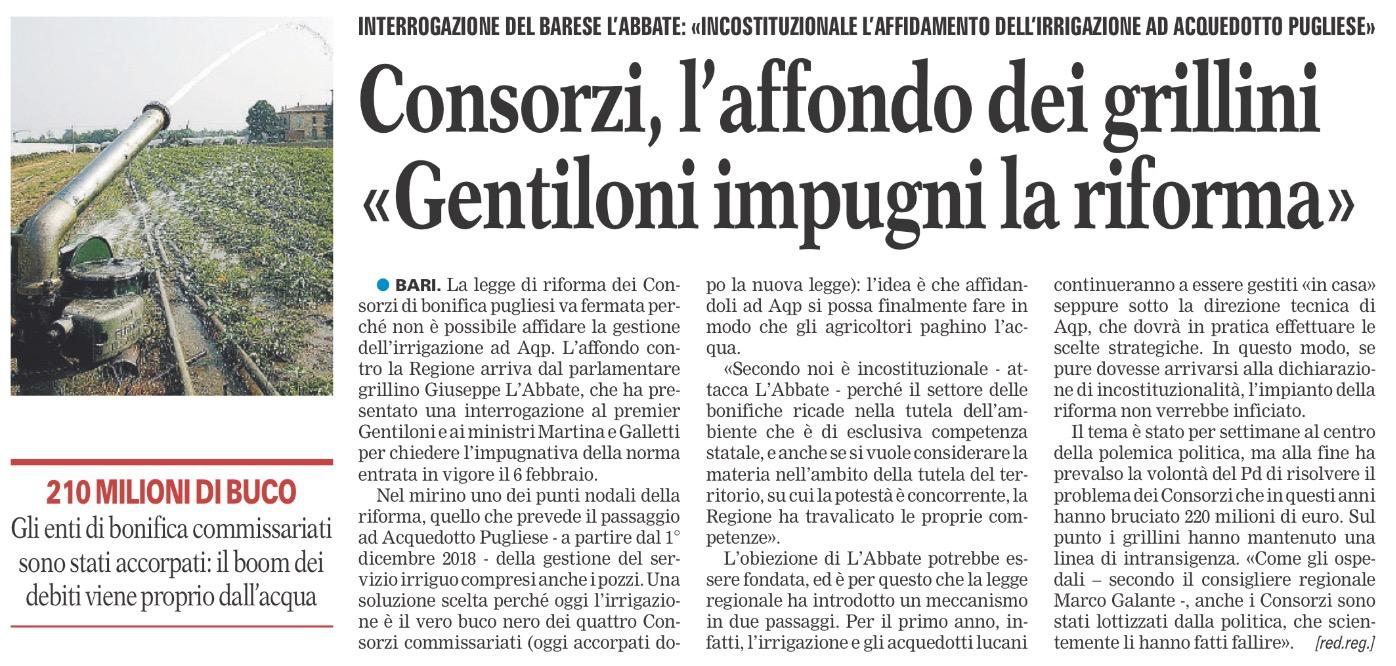 La Gazzetta del Mezzogiorno - 20.02.2017
